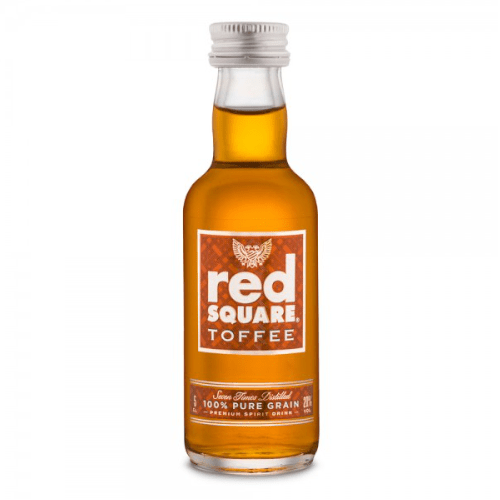 Red Square Toffee Vodka Miniature - 50ml