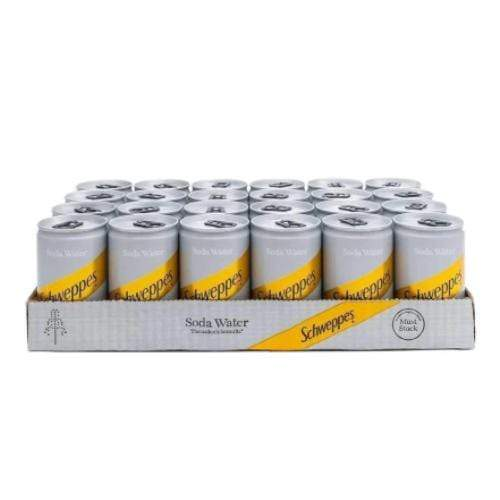 Schweppes Soda Water Miniature Can (150ml) - 24 Pack