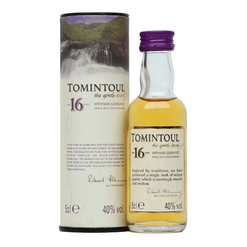 Tomintoul 16 year Single Malt Scotch Whisky Miniature - 50ml