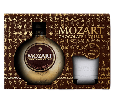 Just Miniatures:Mozart Chocolate Cream Glass Pack - 50cl