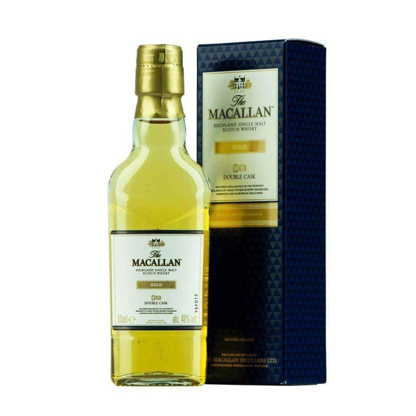 Just Miniatures:Macallan Gold Double Cask Single Malt Scotch Whisky Miniature - 5cl,Miniature Drinks