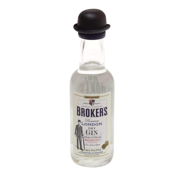 Just Miniatures:Brokers Premium London Dry Gin Miniature (47%) - 5cl,Miniature Drinks