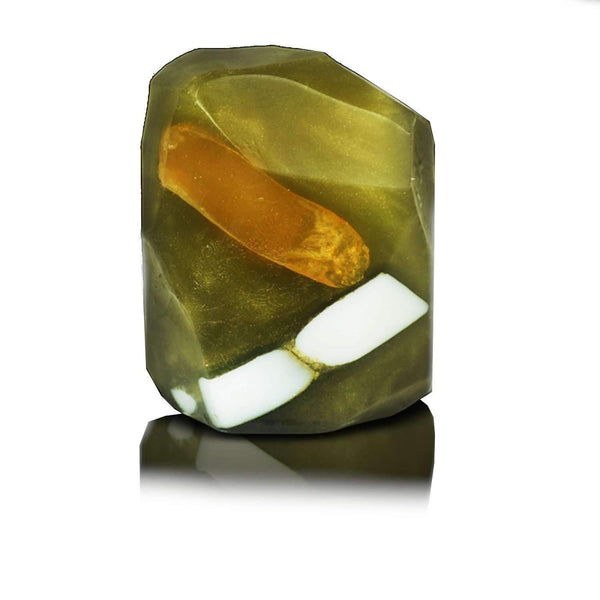 Just Miniatures:Gold in Quartz Gemstone Soap