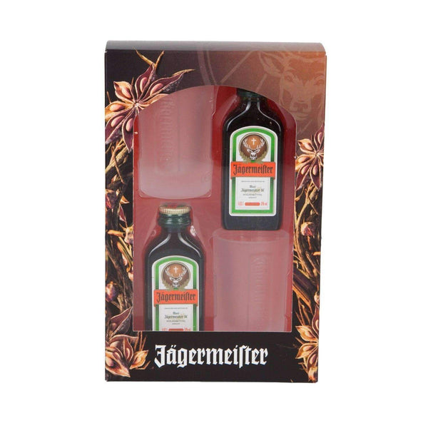 Just Miniatures:Jagermeister 2cl & Shot Glass Gift Pack