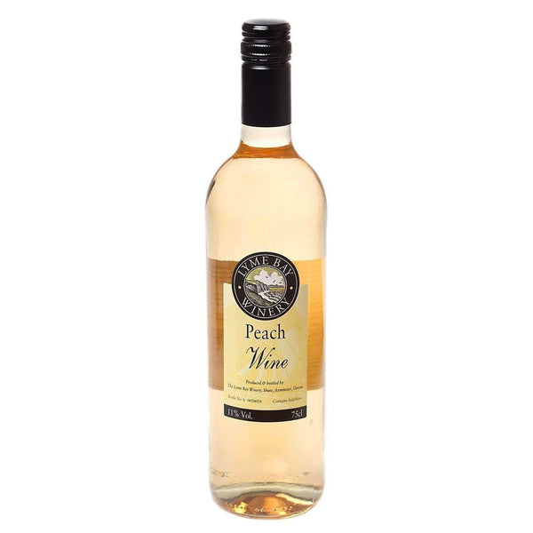 Just Miniatures:Lyme Bay Peach Wine - 75cl