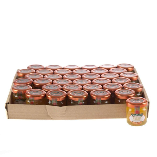 Just Miniatures:Mackays The Dundee Orange Marmalade Mini Jar - 42g (36 Pack)