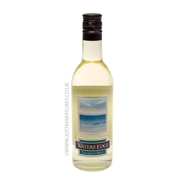 Just Miniatures:Waters Edge Sauvignon Blanc Miniature White Wine - 18.75cl,Miniature Drinks