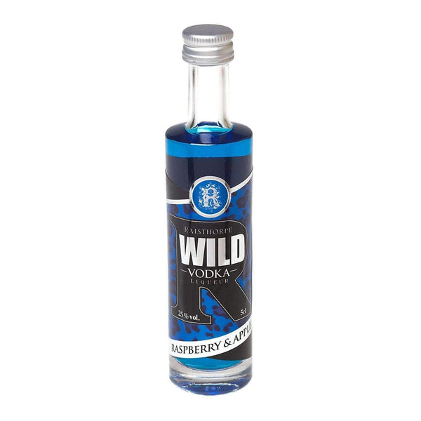 Just Miniatures:WILD Vodka Liqueur Miniature - Raspberry & Apple - 5cl,Miniature Drinks