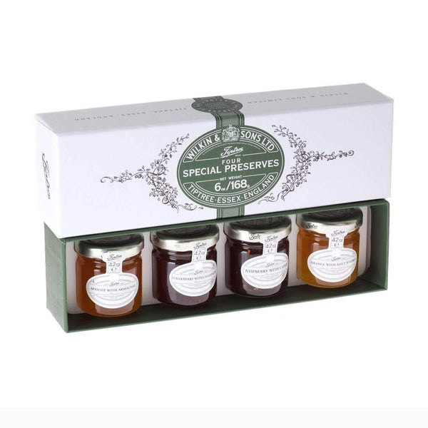 Just Miniatures:Wilkin & Sons Tiptree Four Special (alcohol) Mini Gift Pack - 42g