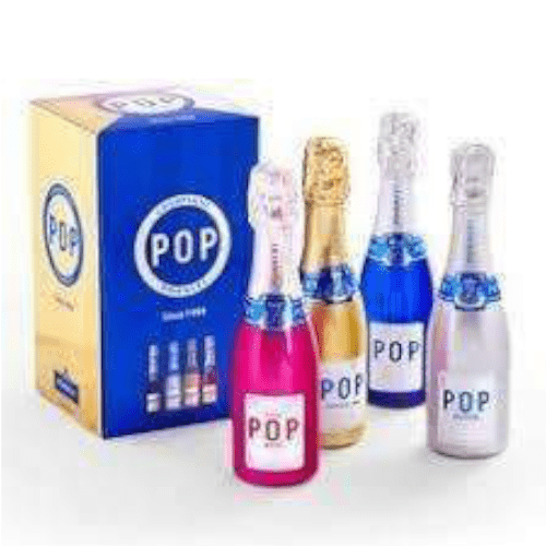 Pommery Pop Mixed Champagne Miniature Gift Set - 4 x 200ml