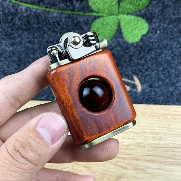 Rosewood handmade custom windproof kerosene to bead lighter(BUY 2 Get 30% OFF!!)