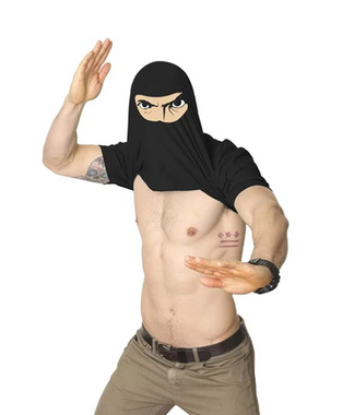 Ninja Disguise T-shirtlnside Out Graphic Shirt