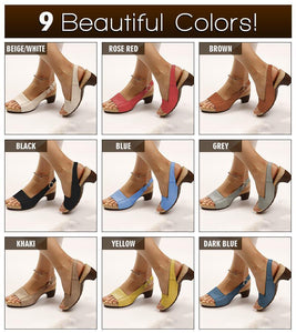 *2020 Hot Selling TV Products* Comfortable Elegant Low Chunky Heel Sandals