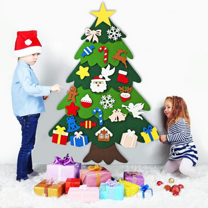 Send LED String Light for  Free - DIY Felt Tree & Spare Ornaments Bundle