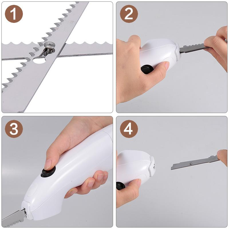 Easy Cut Electric Cordless Knife For Meat Fruit Vegetable Kitchen Tool