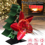 1100RPM 5 Blades Wood Stove Fan Silent Fireplace Fire Heat Powered Saving Ecofan