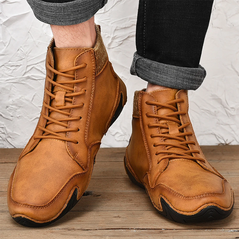 Handmade Soft Slip Resistant Leather Ankle Boots