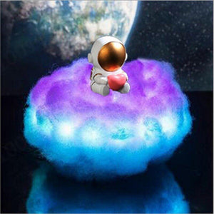 ✨LED Colorful Clouds Astronaut Lamp with Rainbow Effect As Children's Night Light