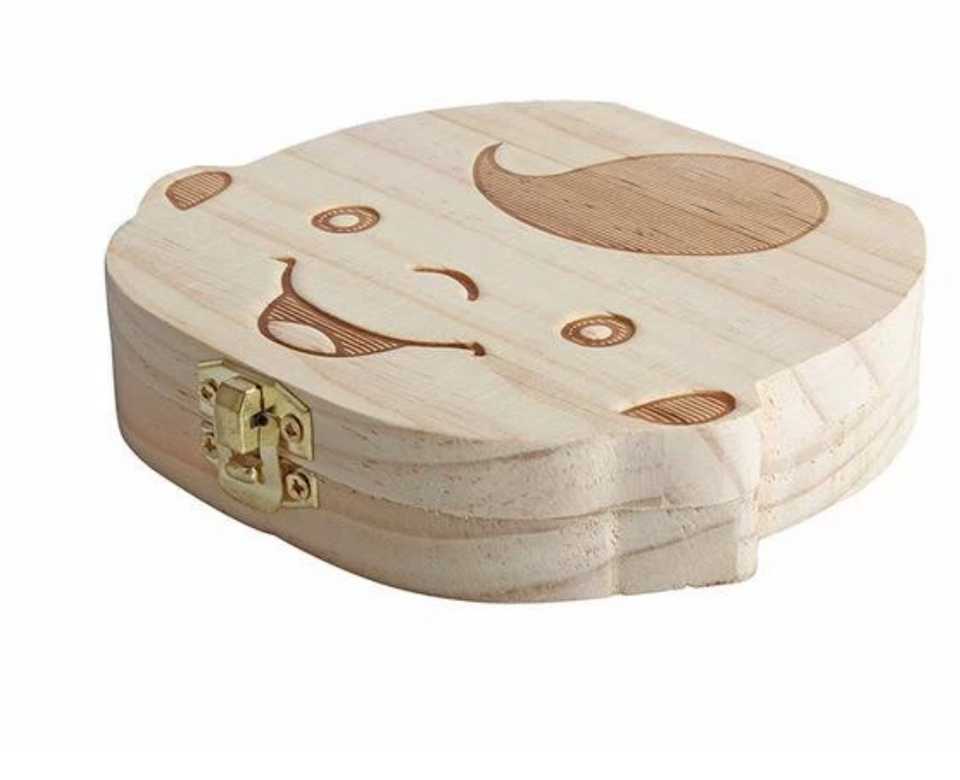 Pinewood Baby Tooth Memory Box