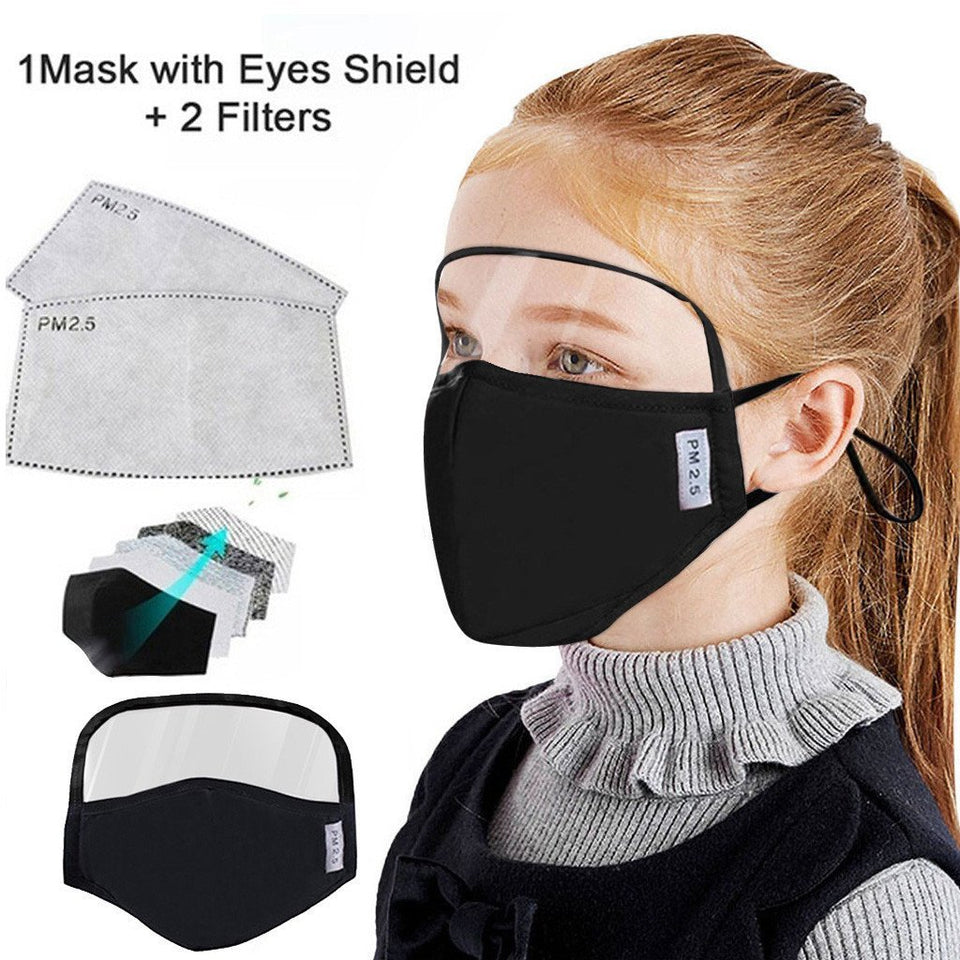 Protective Mask With Eyes Shield