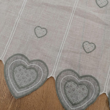Tenda hearts grey
