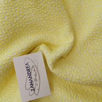 Broccato yellow pois