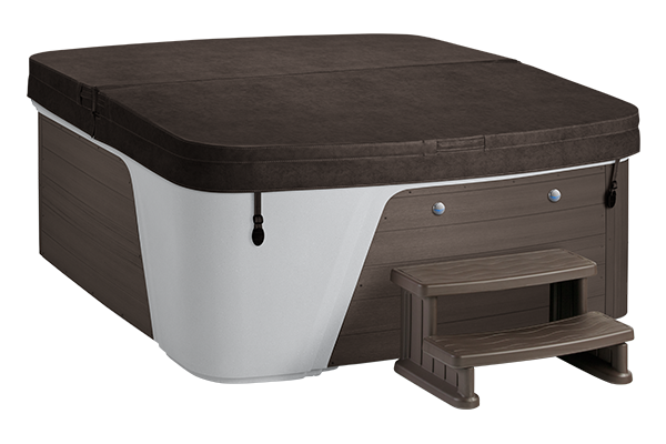 Arctic White Shell/Brown Cabinet Espresso Cover