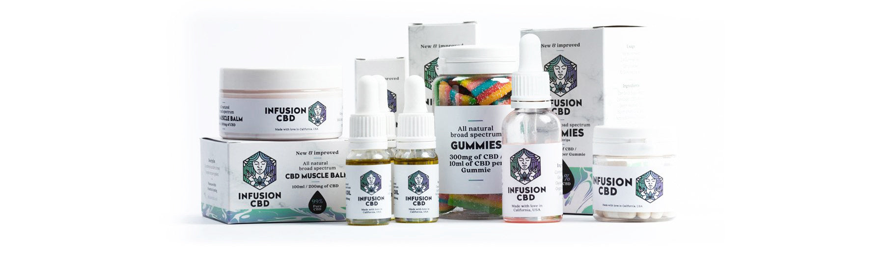 Infusion CBD product collection