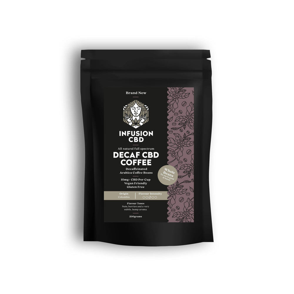 Premium CBD Decaf Coffee - Whole Beans - 200g