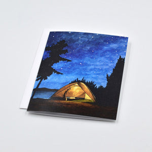 Night Sky Camping Card
