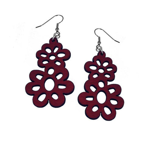 Double Daisy Drop Earrings