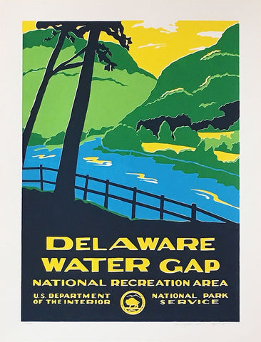Delaware Water Gap Commemorative Poster