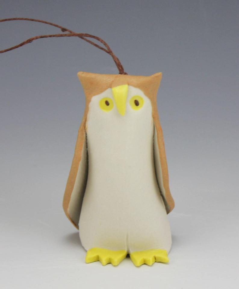 Owl Porcelain Ornament