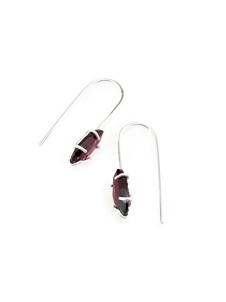 A618D - Garnet Earrings