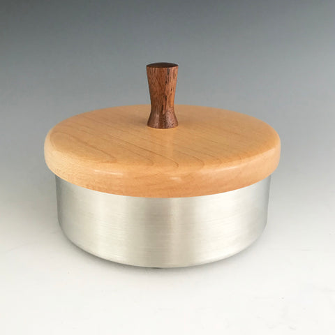 Pewter and Wood Box