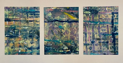 Set of 3 Monoprints Unframed