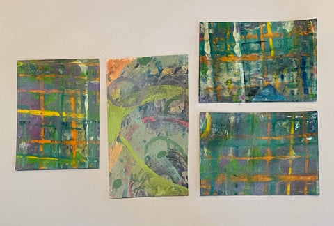 Set of 4 Monoprints Unframed