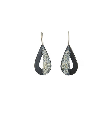 Small Cutout Teardrop Earrings