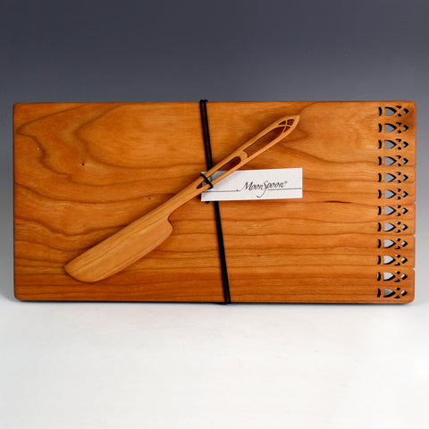 Cheese Board and Spreader Set - Gallery Design
