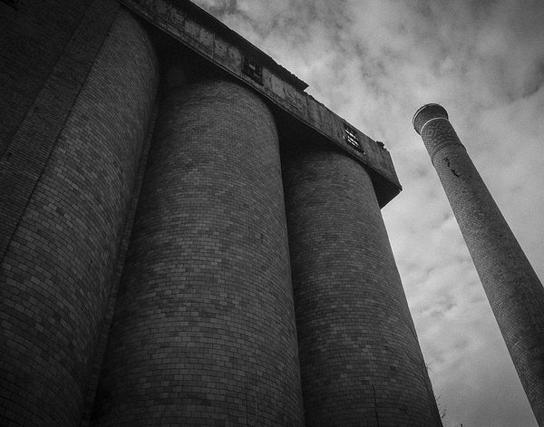 A. Overholt Distillery: Smokestacks Sky