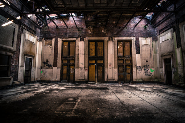 Wilkinsburg Train Station: Front Doors