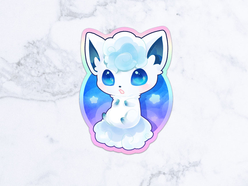 "Eeveelutions bread pokemon clear 3"" Sticker 