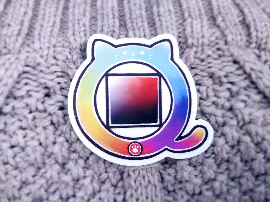 "Color Wheel Cat 3"" Sticker"
