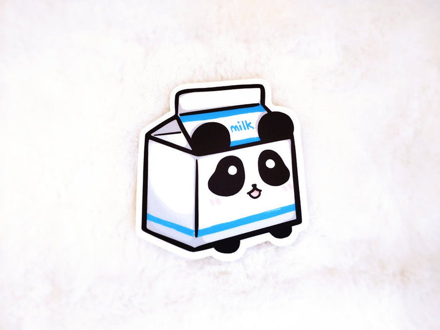 "Panda Milk Carton パンダミルク 3"" Sticker, Kawaii Sticker"