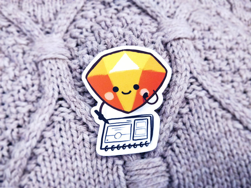 "Sketch UX Designer 3"" Sticker, Cute Sticker, Laptop Decal, Graphic UI Designer"