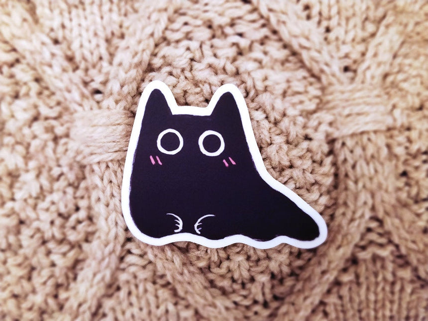 "Slug Cat Black Cat 3"" Sticker"
