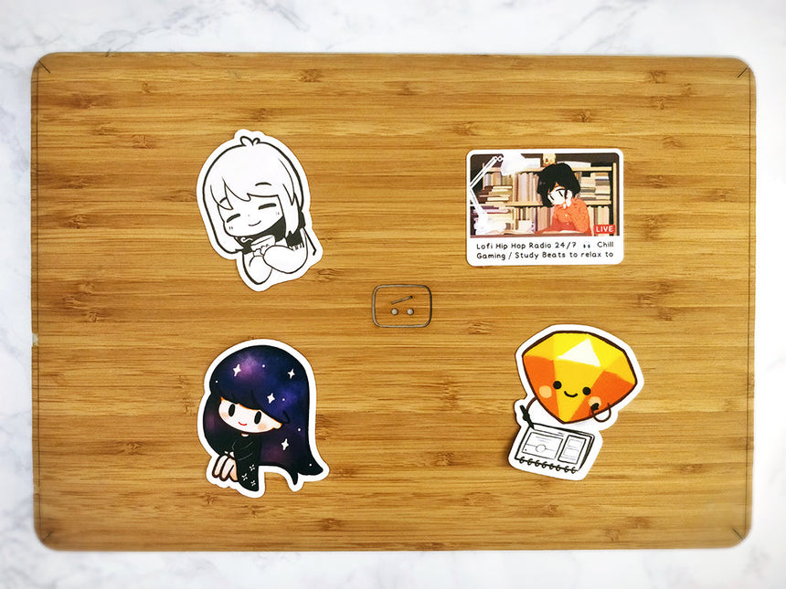 "Galaxy Girl 3"" Sticker"