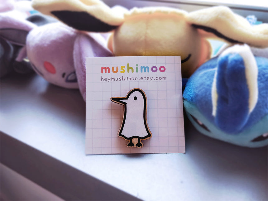 "Oyasumi PunPun 1.5"" Walnutwood Pin Goodnight Punpun, Inio Asano, Onodera"
