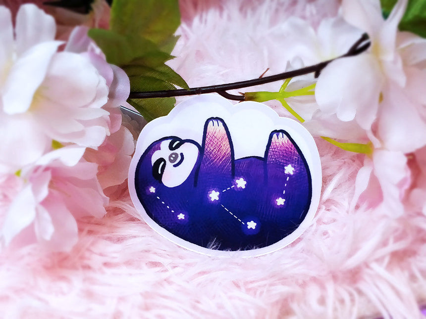 "Sloth Starry Constellation Night Sky 3"" Sticker"