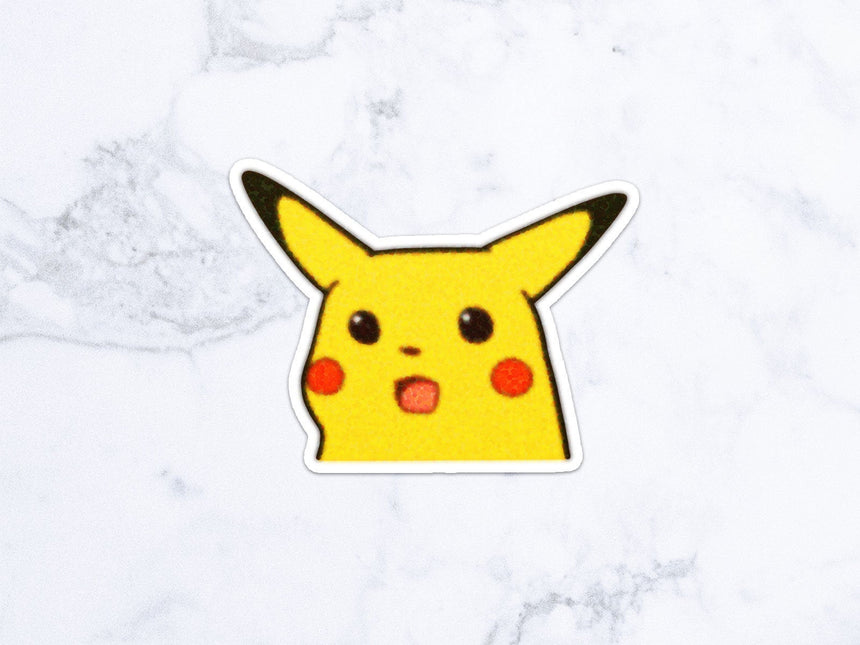 "Surprised Pikachu Shocked Pikachu 1"" Self Inking Stamp, Refillable Cute stamp"
